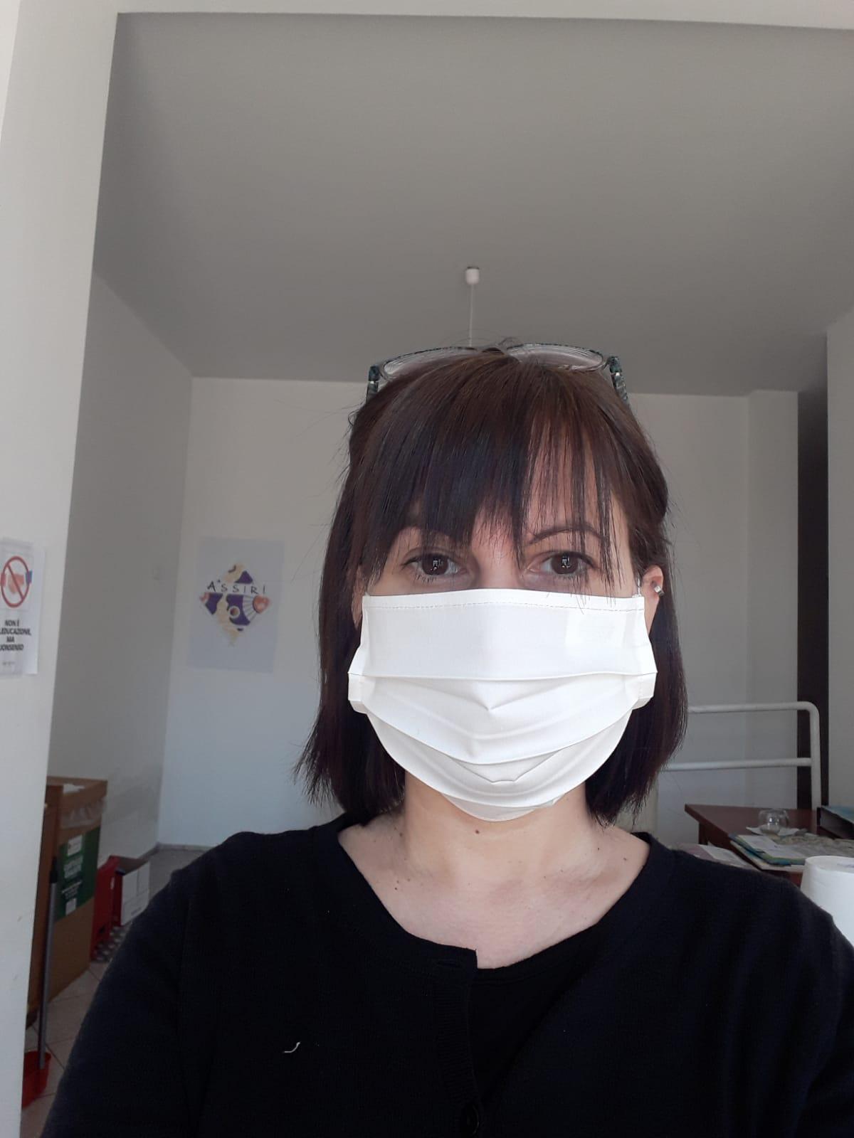 mascherina cotone bianco