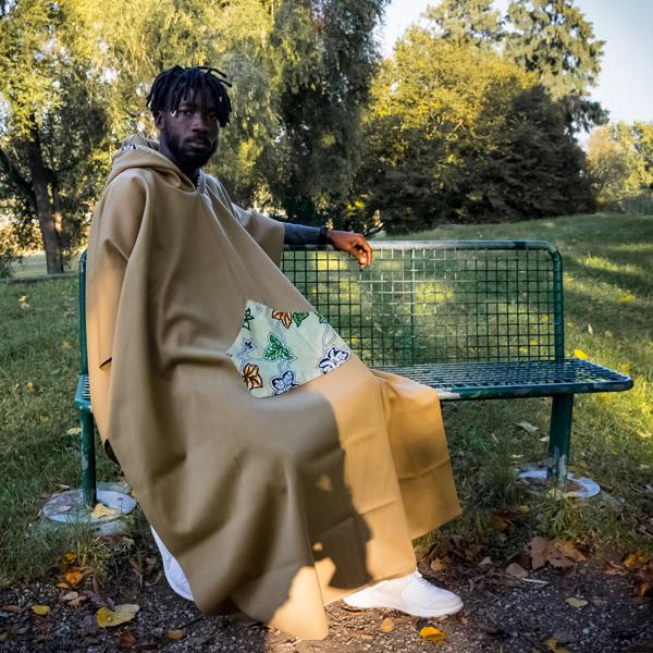 Poncho giaccone in lana unisex Mosca